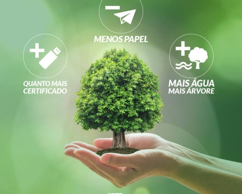 Certificado digital ajuda a reduzir o consumo de água e preservar o meio ambiente